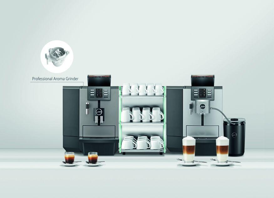 Jura Gastro hat seine Modelle X6 und X8 mit dem Mahlwerk Professional Aroma Grinder ausgestattet