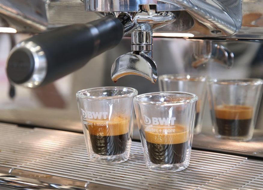 BWT water+more Messe Kaffeemaschine Kaffee