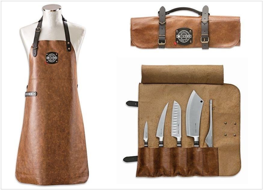 Schürze Rolltasche Messer