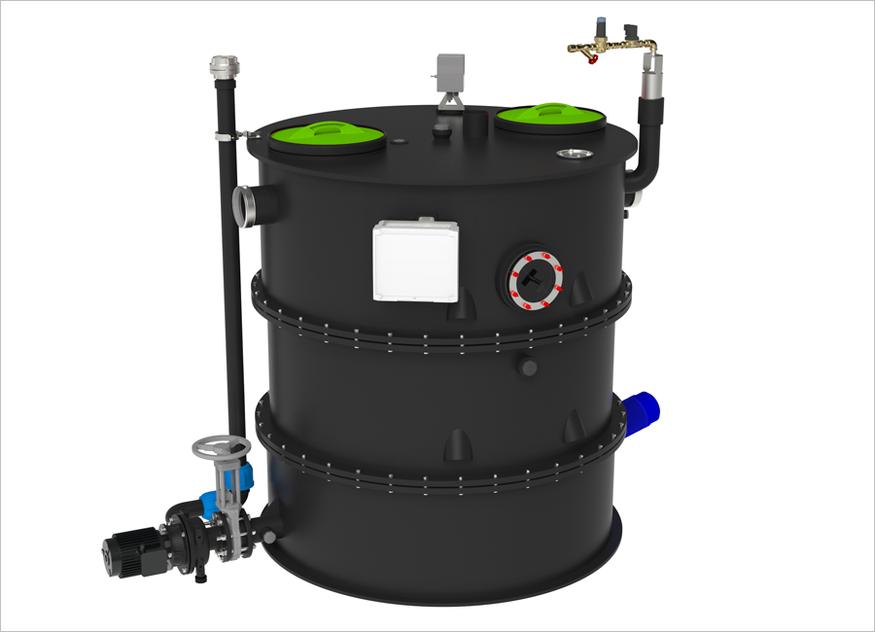 Der GreaseSeperator collect in runder Form ist auch optisch ein Hingucker