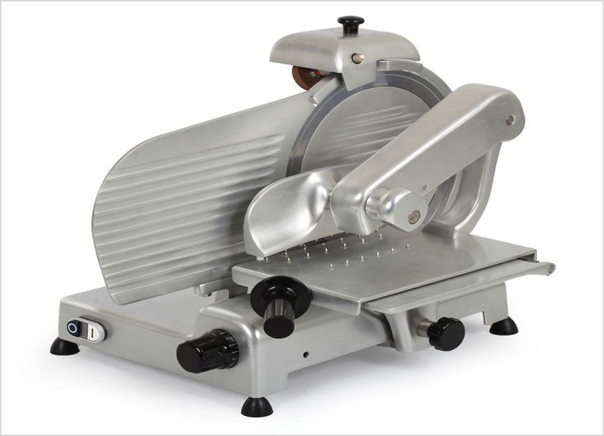 Die Krefft-Vertikalschneide-Aufschnittmaschine-K-KAVS-35-SK-241175 von Stierlen dient als idealer Küchenhelfer in Großküchen