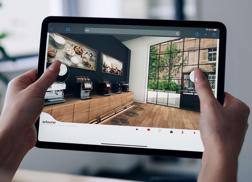 Der neue virtuelle Showroom von Schaerer