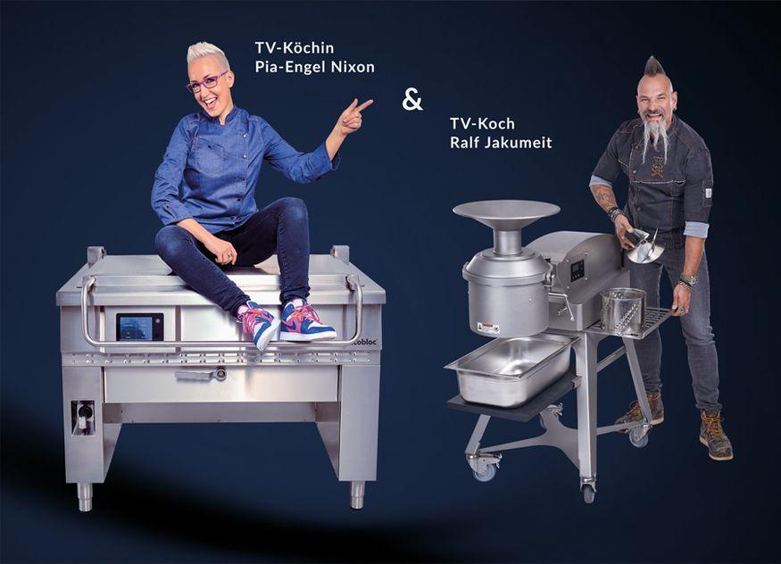 Pia-Engel Nixon, TV-Köchin und Gastronomin ist Testimonial von astrobloc und korrespondiert optimal mit dem Testimonial Ralf Jakumeit, TV-Koch von Verbundunternehmen alexandersolia