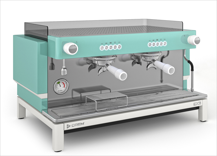 Die Crem EX3 Espressomaschine von Welbilt gibt es in unterschiedlichen Farben, wie zum Beispiel in Türkis