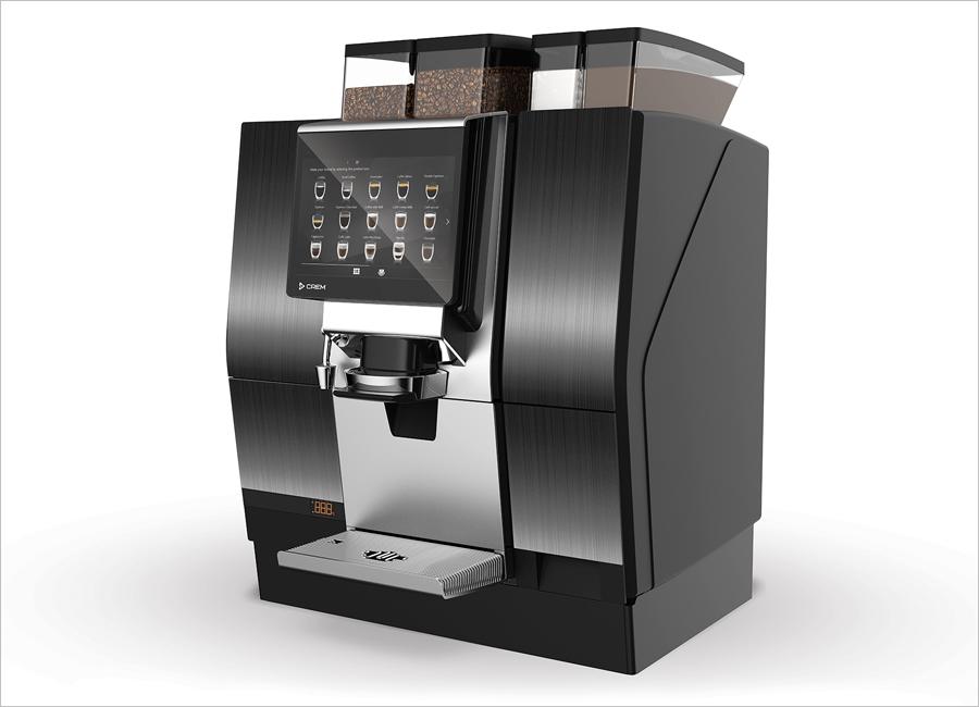 Die Crem Unity 1+ hat einen Doppelauslauf, mit welchem sich zwei Kaffee parallel zubereiten und Gäste dadurch schneller und effizienter bedienen lassen
