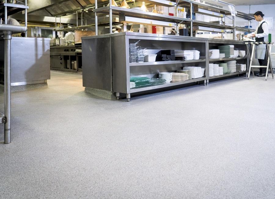 Großküche Profiküche Fußboden