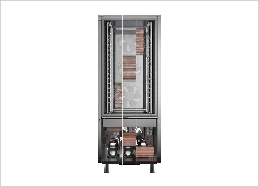 Der Irinox MC3 Multicircuit von Irinox wurde patentiert. Die unabhängigen Kühlkreisläufe sorgen für Effizienz beim neuen Schnellkühler und Schockfroster MultiFresh Next des Unternehmens