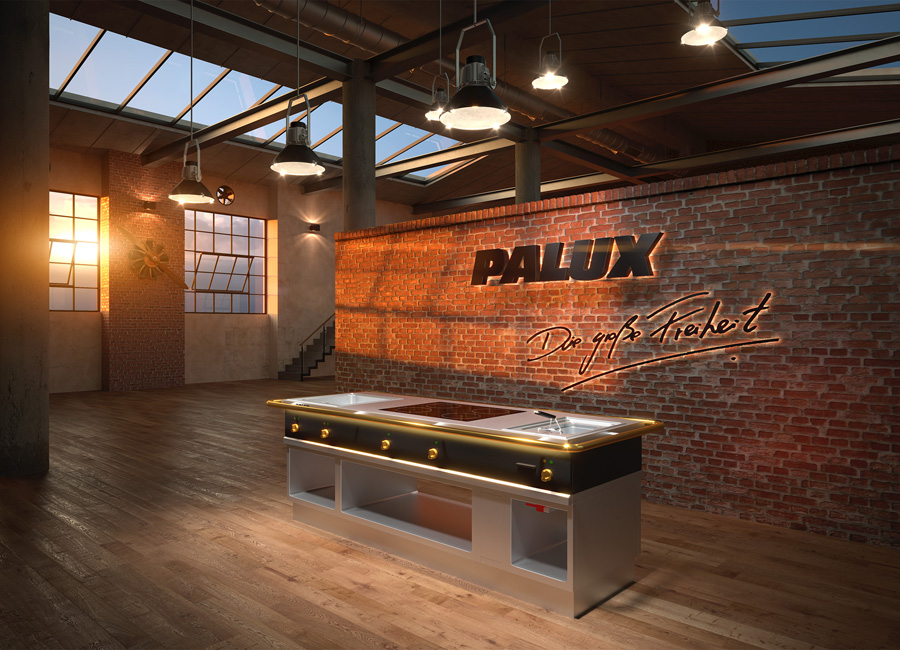 Das Produkt-Highlight 2021 von Palux: die neue Herdanlage X-Line in moderner Optik und mit verschiedenen Ausstattungsoptionen