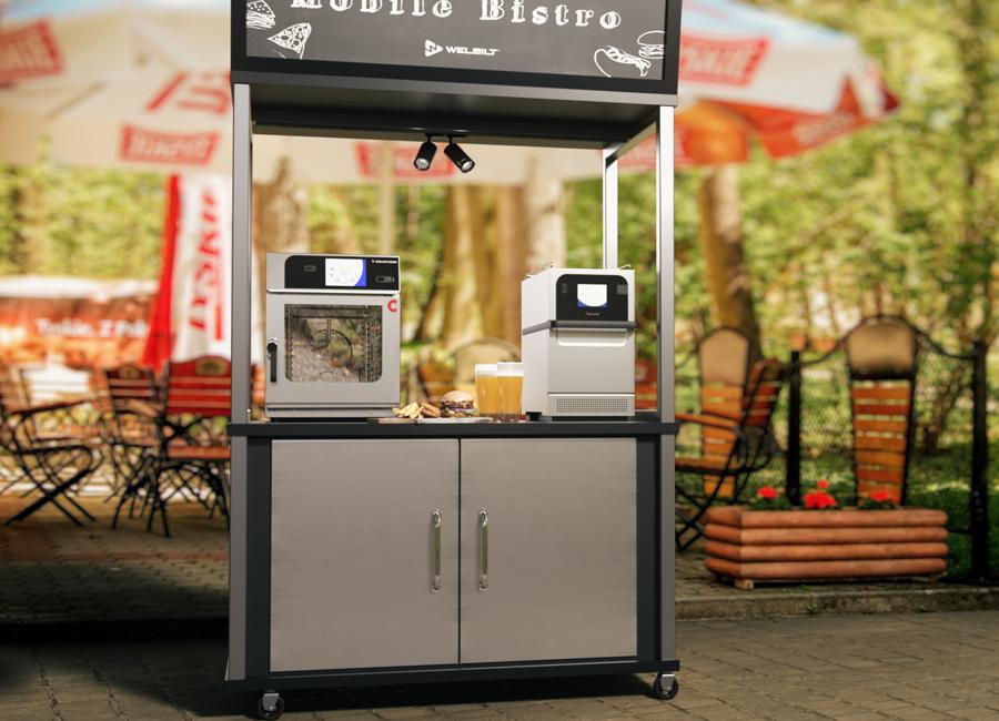 Unter den Messepräsentationen von Welbilt während der IDX_FS befindet sich erstmalig ein modernes mobiles Bistro-Konzept, das für die Außengastronomie entwickelt wurde