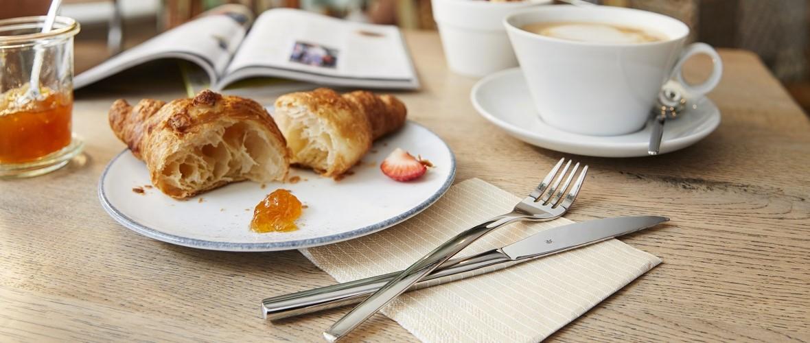 Besteck Frühstück Tasse Café